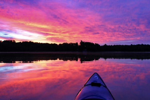 canoe_kayak_canoers-sunset6_summer_simon-lunn