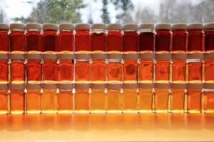 samples of maple syrup