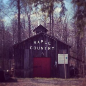 maple country named on a barn